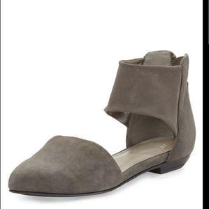 Eileen Fisher Allot Ankle- Wrap Ballet Flats Sz 10